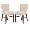 Safavieh Set of 2 Mercer Beige Accent Chairs