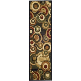 Safavieh Lyndhurst Black and Multicolor Rectangular Indoor Machine-Made Runner (Common: 2 x 16; Actual: 27-in W x 192-in L x 0.5-ft Dia)