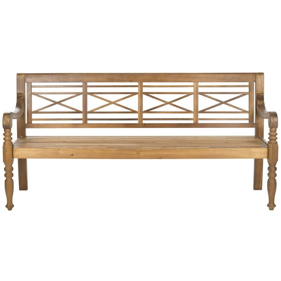 Shop Safavieh 23 In L Painted Wood Patio Bench At