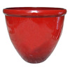 16-in H x 17.5-in W x 17.5-in D Red Plastic Planter