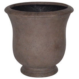 14.75-in H x 14.75-in W x 14.75-in D Rust Fiberglass Indoor/Outdoor Urn