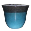 allen + roth 15-in x 12.44-in Turquoise Brown Plastic Planter