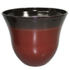 allen + roth 21.7-in x 18.43-in Red Brown Plastic Planter
