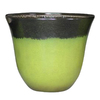 allen + roth 21.7-in x 18.43-in Green Brown Plastic Planter
