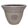 Garden Treasures 22-in x 16.93-in Sand Plastic Planter