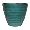 allen + roth 14-in x 11.5-in Turquoise Plastic Planter