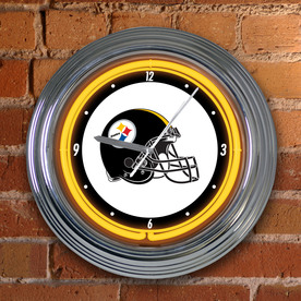"The Memory Company 15"" Neon Clock-Steelers"