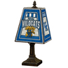 The Memory Company 14-1/2-in Brass Kentucky Wildcats Art Glass Table Lamp Accent Lamp with Multicolor Shade