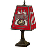 The Memory Company 14-1/2-in Brass Ohio State Buckeyes Art Glass Table Lamp Accent Lamp with Multicolor Shade