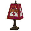 The Memory Company 14-1/2-in Brass Virginia Tech Hokies Art Glass Table Lamp Accent Lamp with Multicolor Shade