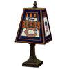 The Memory Company 14-1/2-in Brass Chicago Bears Art Glass Table Lamp Accent Lamp with Multicolor Shade