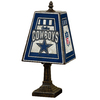The Memory Company 14-1/2-in Brass Dallas Cowboys Art Glass Table Lamp Accent Lamp with Multicolor Shade