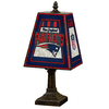 The Memory Company 14-1/2-in Brass New England Patriots Art Glass Table Lamp Accent Lamp with Multicolor Shade