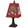 The Memory Company 14-1/2-in Brass San Francisco 49Ers Art Glass Table Lamp Accent Lamp with Multicolor Shade