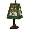 The Memory Company 14-1/2-in Brass Miami Hurricanes Art Glass Table Lamp Accent Lamp with Multicolor Shade