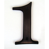 Gatehouse 5-in Aged Bronze House Number 1