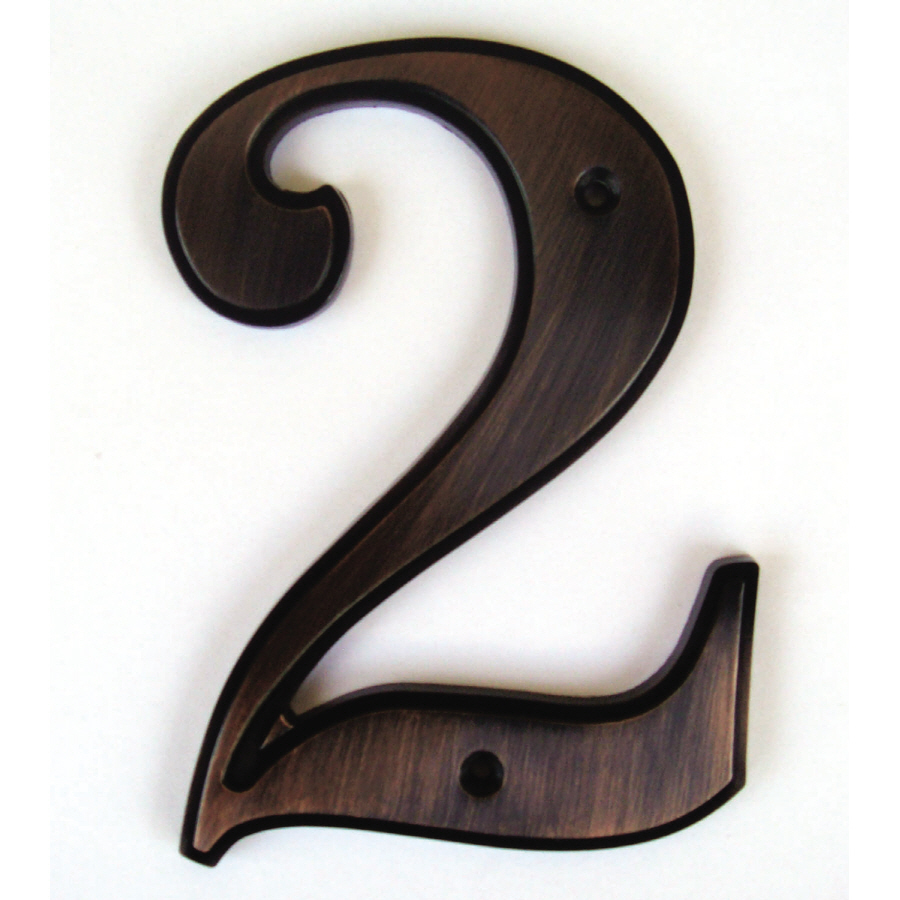 Shop gatehouse 5 in aged bronze house number 2 at lowescom for House letters lowes