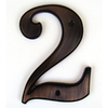 "Gatehouse 5"" Solid Zinc Number # 2"