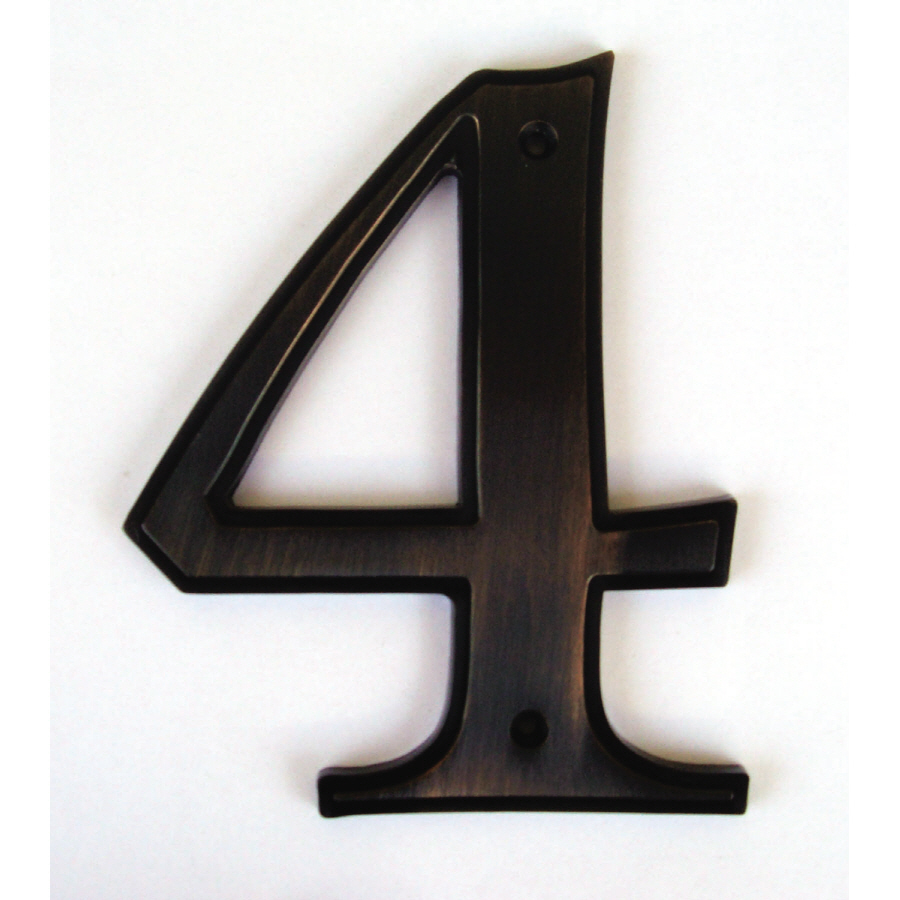 Shop gatehouse 5 in aged bronze house number 4 at lowes com