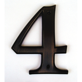 Gatehouse 5-in Aged Bronze House Number 4
