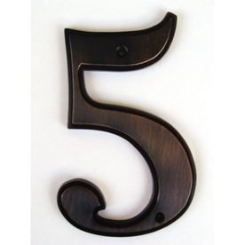 Gatehouse 5-in Aged Bronze House Number 5