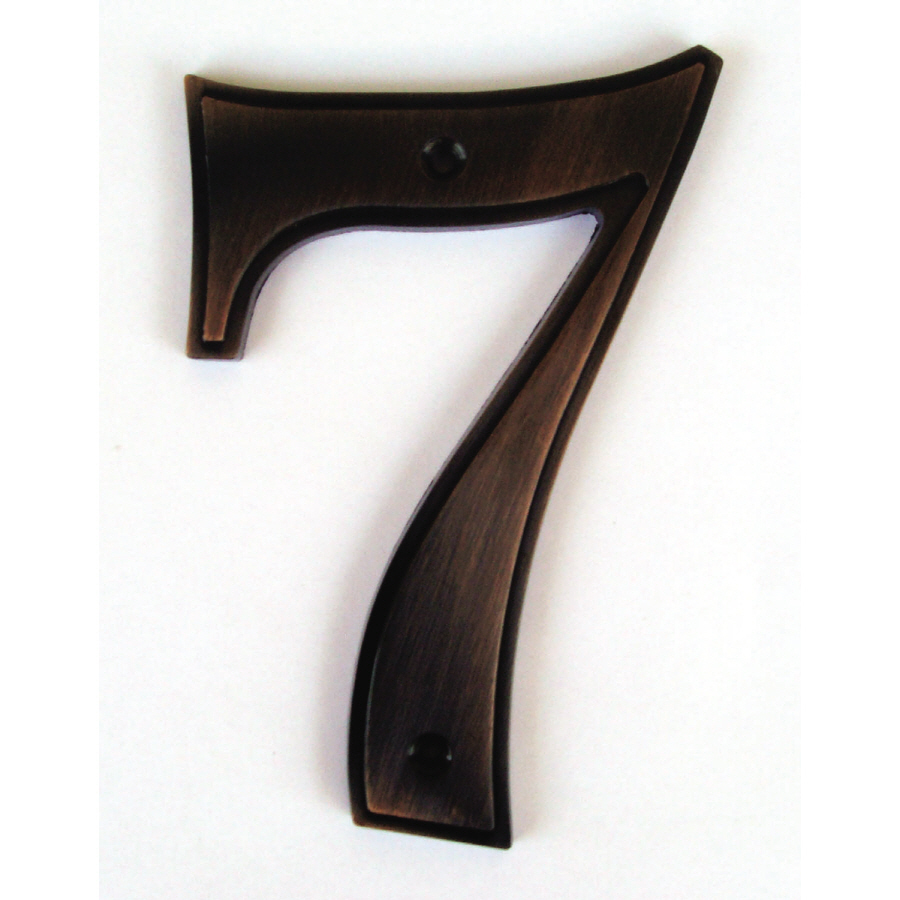 Shop gatehouse 5 in aged bronze house number 7 at lowes com