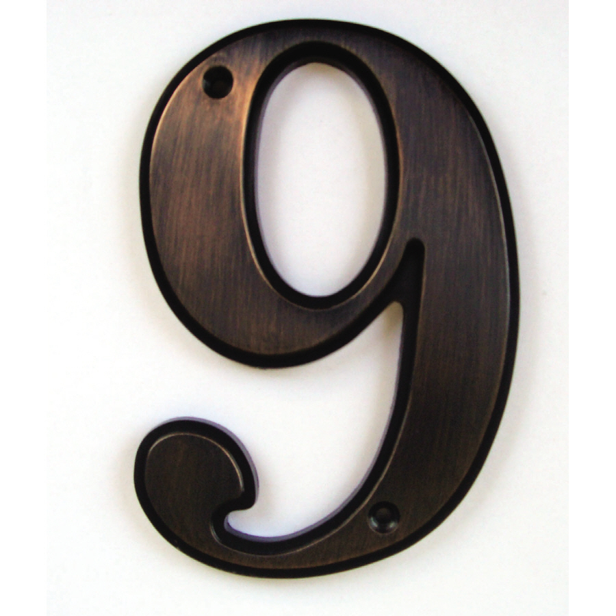 Shop gatehouse 5 in aged bronze house number 9 at lowescom for House letters lowes