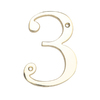 Gatehouse 4&#034; Zinc Polished Brass Number 3