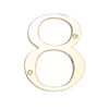 Gatehouse 3.87-in Polished Brass House Number 8