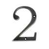 "Gatehouse 4"" Zinc Venetian Bronze Number 2"