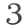 Gatehouse 4&#034; Zinc Venetian Bronze Number 3
