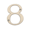 Gatehouse 3.91-in Satin Nickel House Number 8