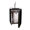 Haier Single Tap Brewmaster Black Freestanding Kegerator