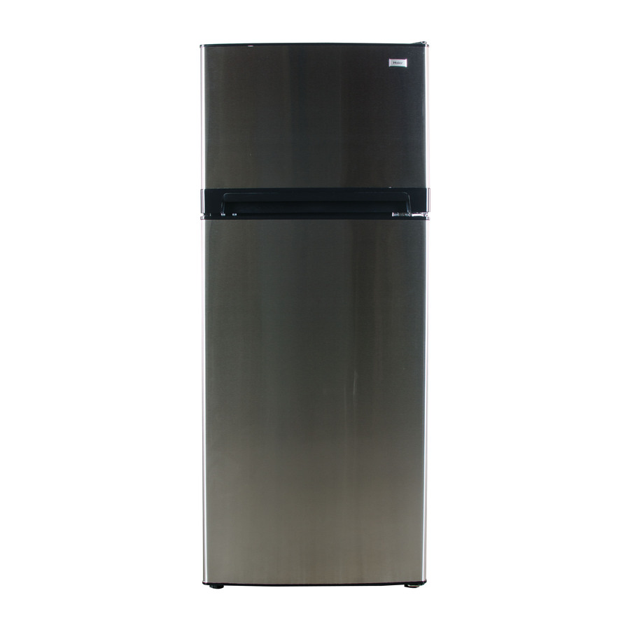 Shop Haier Ft Top Freezer Refrigerator Stainless