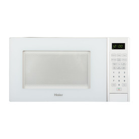 Haier 0.9-cu ft 900-Watt Countertop Microwave (White)