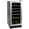 Haier 26-Bottle Brushed Aluminum Trim with Black Body Wine Chiller