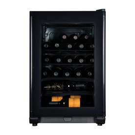 Haier 24-Bottle Compressor Black Wine Chiller