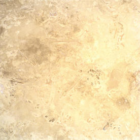 Bedrosians 18-in x 18-in Ivory Travertine Floor Tile