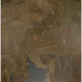 Bedrosians 16-in x 16-in Autumn Gold Slate Floor Tile