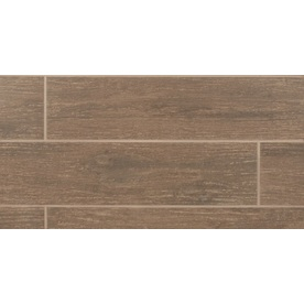 Bedrosians 11-Pack 6-in x 24-in Prestige Oak Glazed Porcelain Floor Tile