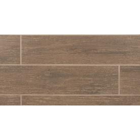 Bedrosians 11-Pack 6-in x 24-in Prestige Oak Glazed Porcelain Floor Tile (Actuals 23.75-in x 5.88-in)