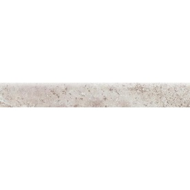 Bedrosians Illusions Silver Glazed Porcelain Indoor/Outdoor Bullnose Tile (Common: 3-in x 20-in; Actual: 2.75-in x 19.75-in)