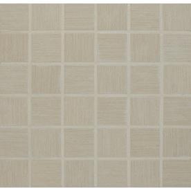 Bedrosians Silk Road White Glazed Porcelain Mosaic Square Indoor/Outdoor Floor Tile (Common: 13-in x 13-in; Actual: 12.875-in x 12.875-in)