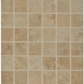 Bedrosians Roma Beige Uniform Squares Mosaic Porcelain Floor Tile (Common: 13-in x 13-in; Actual: 13-in x 13-in)