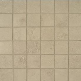 Bedrosians Verona Silver Uniform Squares Mosaic Porcelain Floor Tile (Common: 13-in x 13-in; Actual: 12.875-in x 12.875-in)