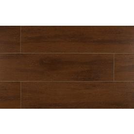 Bedrosians Prestige-Z 12-Pack Cherry Porcelain Floor Tile (Common: 6-in x 24-in; Actual: 5.88-in x 23.75-in)