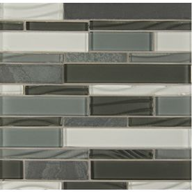 Shop Bedrosians Intrigue Mosaics Pewter Grey Subway Mosaic