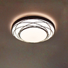 Utilitech 19.01-in W Black Ceiling Flush Mount