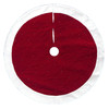 Holiday Living 56-in Red and White Polyester Quilted Velvet Christmas Tree Skirt