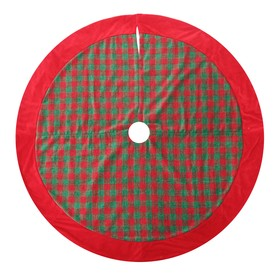 Holiday Living 56-in Red and Green Plaid Polyester Christmas Tree Skirt